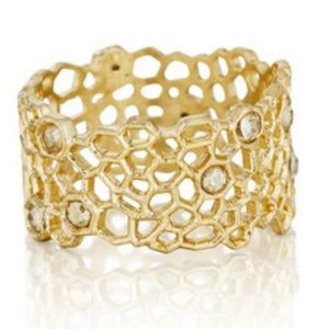 C + I Golden Honey comb with Swarovski crystals